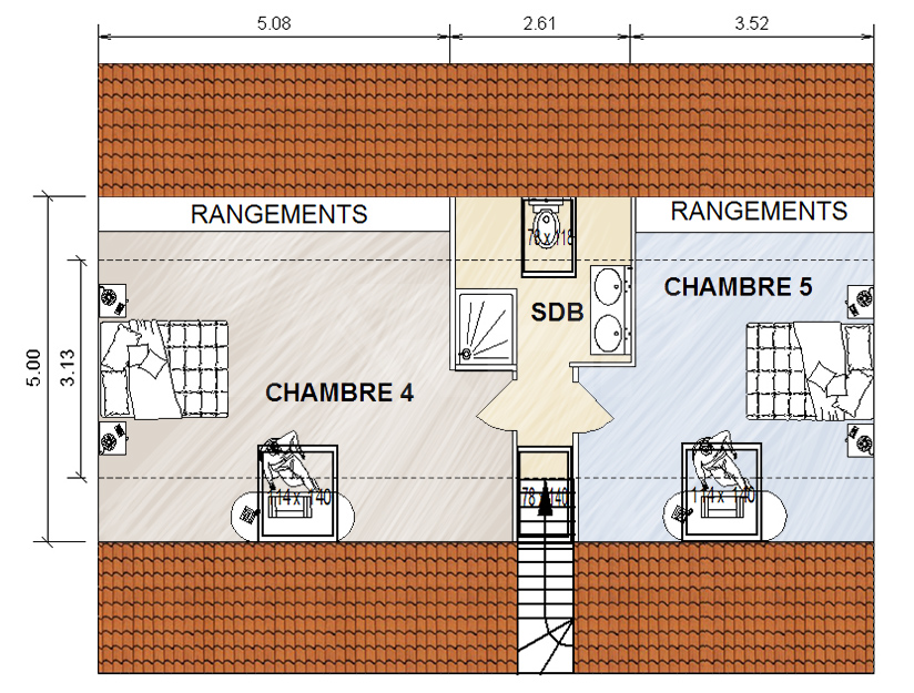 Comment transformer des combles perdus en combles for Plan de maison avec combles amenages